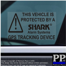 5 x SHARK Alarm Vehicle GPS Tracking Security Window Stickers,Car,Van,Taxi,Vehicle